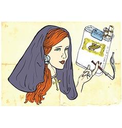 Smoker Nun vector image