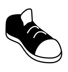 Sneaker sport black and white vector