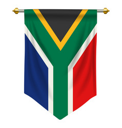 south africa pennant vector image