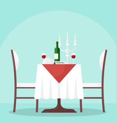table in restaurant with vector image