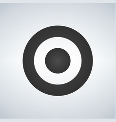 target aim icon circle target symbol isolated on vector image