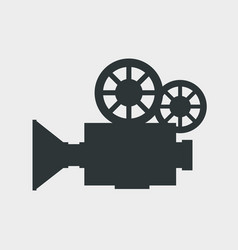 Video camera silhouette icon vector