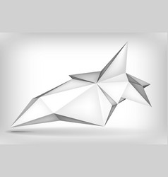 Volume geometric shape 3d levitation crystal vector