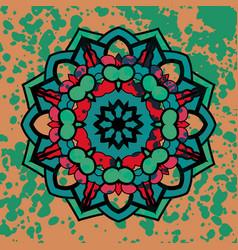 Watercolor colorful abstract round mandala vector
