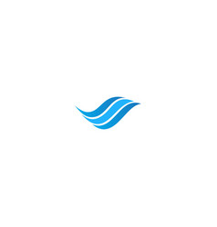 wave water abstract business logo vector image