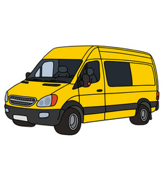 Yellow delivery car vector