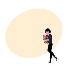 young pretty businesswoman woman girl carrying vector image