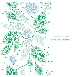 abstract blue and green leaves vertical frame vector image vector image