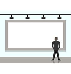 Businessman looking at billboard vector image