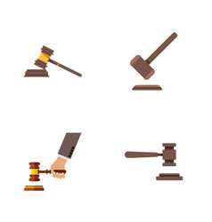 flat icon lawyer set of tribunal legal crime and vector image vector image