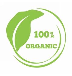 Leaf shaped logo eco friendly emblem vector image vector image