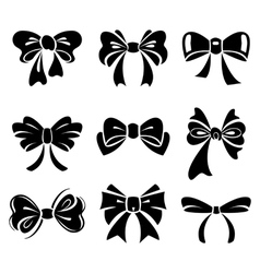 Set of bow vector image