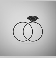wedding rings icon bride and groom jewelery sign vector image