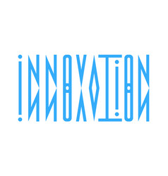 abstract logo from the word innovation in a vector image vector image