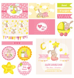 Baby Shower Bunny Theme vector image vector image