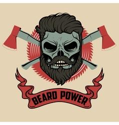 beard power vector image vector image