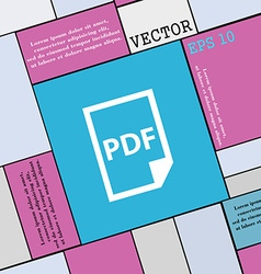 PDF Icon sign Modern flat style for your design vector image