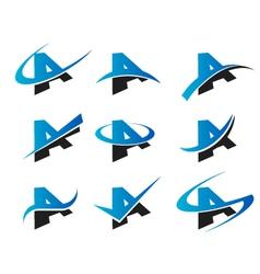 Alphabet A Logo Icons vector image vector image