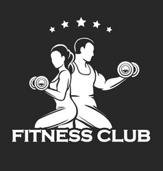 athletic or fitness club emblem vector image