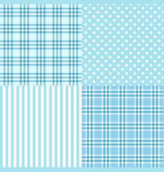 blue seamless patterns vector image vector image