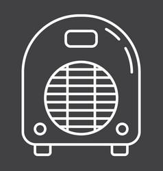 Electric fan heater line icon household appliance vector