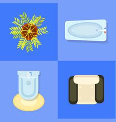 indoor furniture icons set vector image