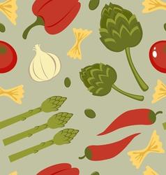 Italian food seamless background vector image vector image