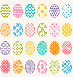 set of colorful eggs for easter vector image vector image