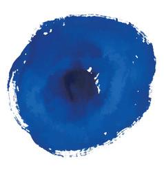 blue rough watercolor circle spot banner vector image