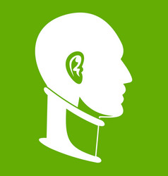 cervical collar icon green vector image