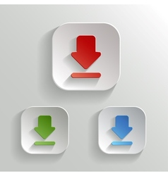 Download icon - app buttons color set vector image vector image