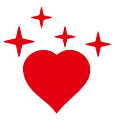 sparkle love heart icon vector image