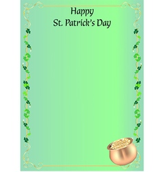 St Patrick day invitation or menu vector image