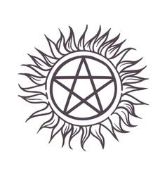 Star sun sign vector image
