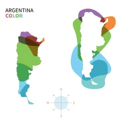 Abstract color map argentina vector