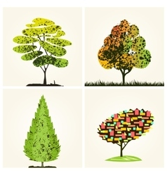 Abstract colorful trees background vector image