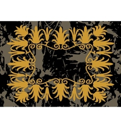 Abstract golden frame vector image