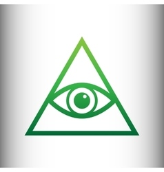 All seeing eye pyramid symbol vector image
