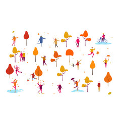 autumn fall thanksgiving people outdoor home vector image
