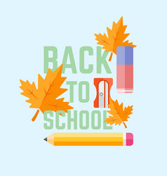 back to school flat style vector image