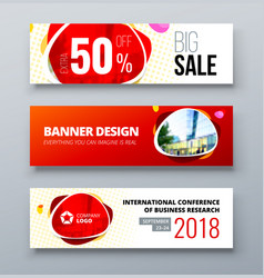 Banner template design presentation concept red vector
