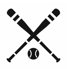 Baseball bat and ball icon simple style vector image