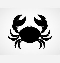 black and white crab silhouette vector image