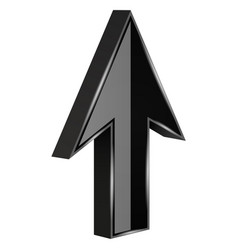 black arrow 3d up sign vector image