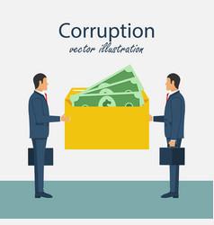 Bribery concept corrupting icon vector