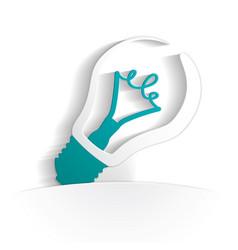 Bulb icon paper vector