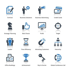 Business Icons Set 2 - Blue Series vector image