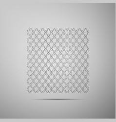chain fence icon metallic wire mesh pattern vector image