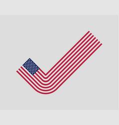 Check mark usa flag modern style united states vector
