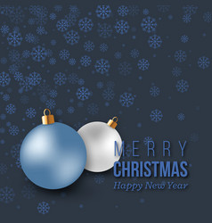 christmas blue decoration with snowflakes and vector image